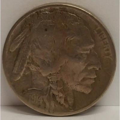 1914-D Buffalo Nickel VF RAW