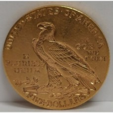 1908 $5 Indian Gold Coin XF Condition