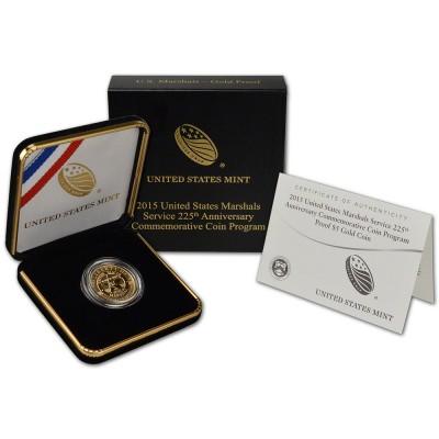 2015-W Gold $5 U.S. Marshals Service Proof Coin (w/box & COA)
