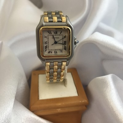 Cartier Panthere 3-Row 18K & Stainless Steel Midsize/Jr. Watch