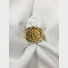14 K Yellow Gold Mens Rings w $2.5 Indian