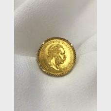 18 K Yellow Gold Ring w Austrian 10 Franc