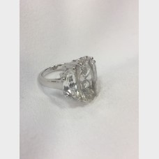 Sterling Silver 3 Stone Cubic Zirconia Ring
