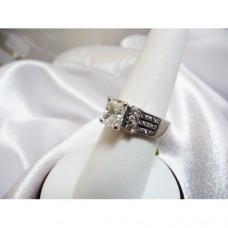 Ladies Rectangular Cushion Cut Diamond Ring